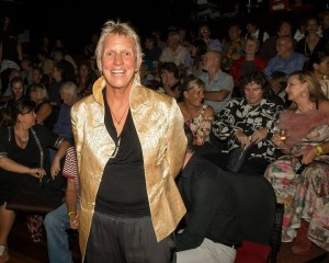Zenith Virago in front of a sold-out crowd at the Zen & the Art of Dying Premiere. Photo by Lyn McCarthy/Niche Pictures.