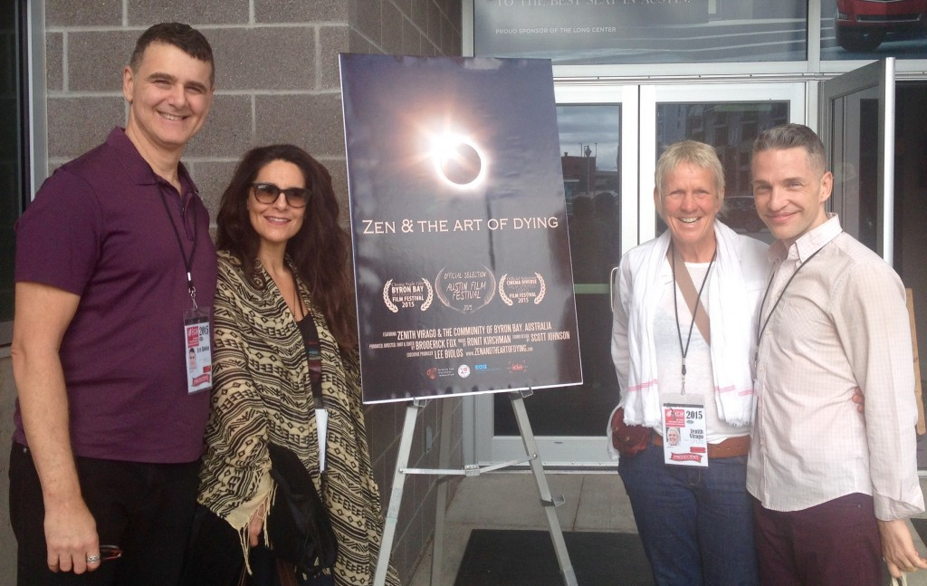 Executive Producer Lee Biolos, Associate Producer Michele Bornheim, Deathwalker Zenith Virago, and Director Broderick Fox at the 2015 Austin Film Festival.