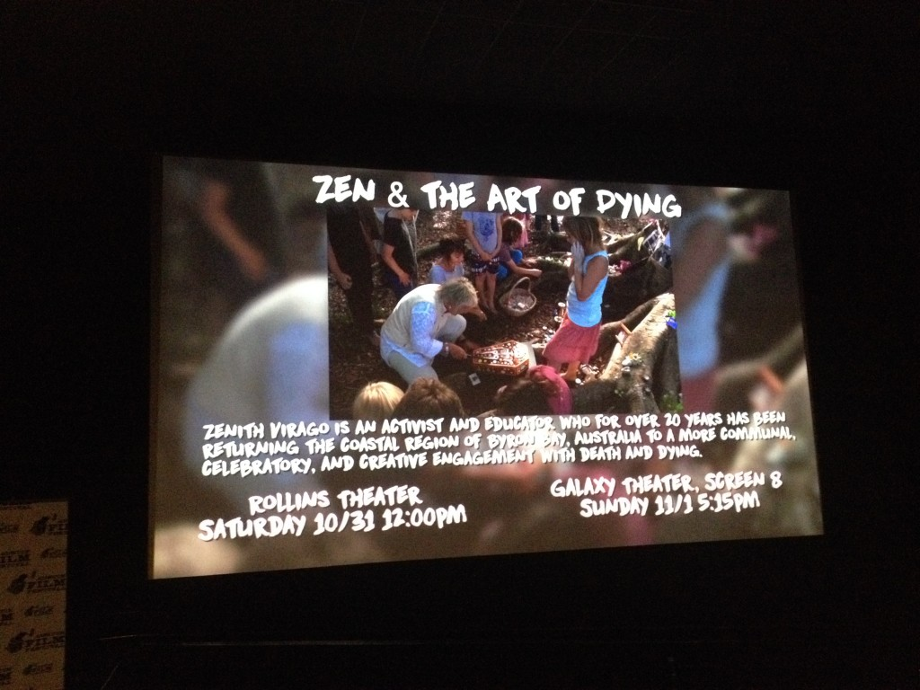 Zen & the Art of Dying at the 2015 Austin Film Festival.