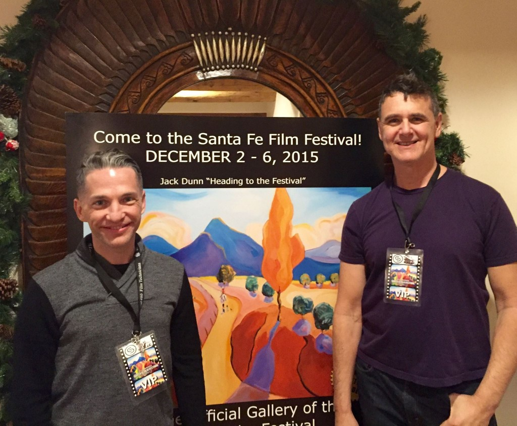 Zen & the Art of Dying director Broderick Fox and executive producer Lee Biolos at the Santa Fe Film Festival.