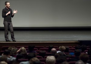 Q&A with Director Broderick Fox at Occidental College (Photo by Marc Campos)